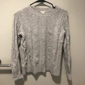 J. Crew Cable Crewneck Sweater (XXS)